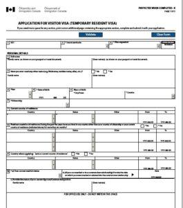 3-sample-app-form-265x300 Online Application Form For Canada Visit Visa on